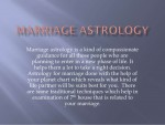 Descriptive Astrology Marriage Prediction