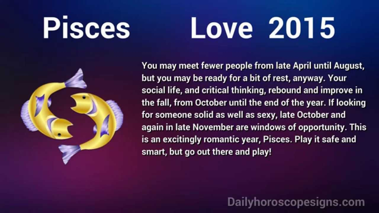 Descriptive Horoscope For Pisces