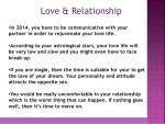 Refined Love Life Horoscope
