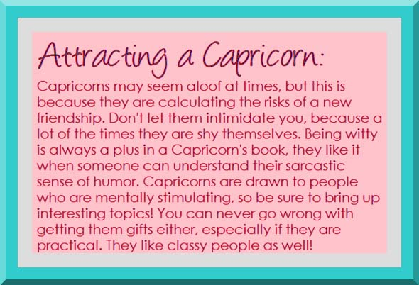 Attracting Capricorn Love Horoscope