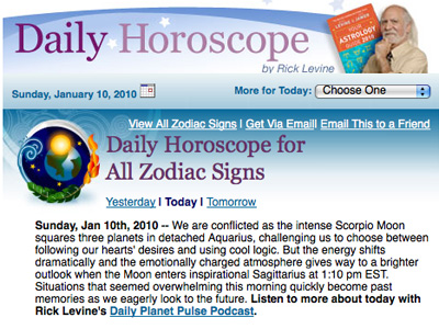 Rick Levine Horoscope Daily